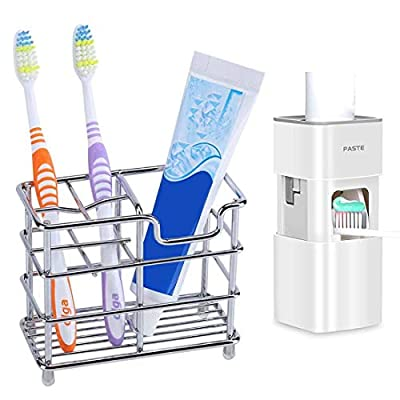 CXYHMG Stainless Steel Toothbrush Holder and Wa...