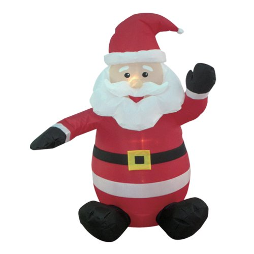 Four Foot Tall Blow Up Santa Clause Holiday Decoration