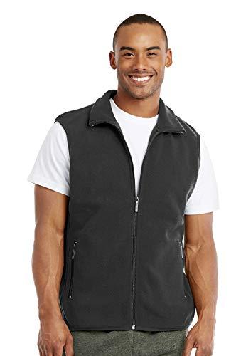 Knocker Men's Polar Fleece Zip Up Vest (XL, Charcoal)