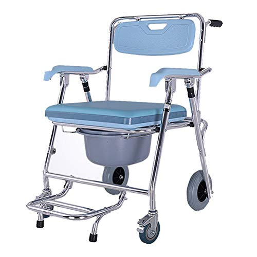 Check Out This Nuokix Elderly Wheelchair Commode Adult Mobile Toilet Seat Toilet Chair Bath Chair Pr...