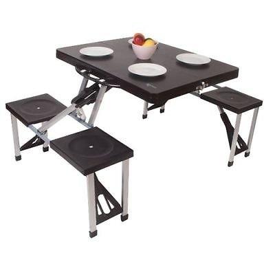 Juego de Mesa y sillas Plegables para Picnic y pícnic, Camping, Camping, Camping, Camping, Mesa y Mesa de Caravana de Color al Azar
