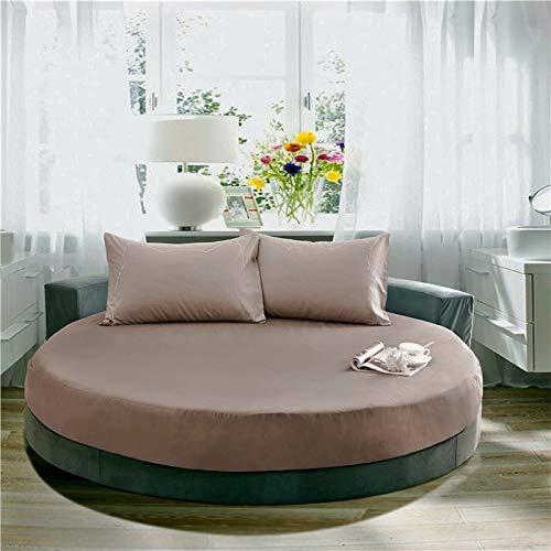 EYRLISL Sábana de Cama Redonda de Hotel temática Banda elástica Funda de colchón de algodón romántico Sábanas Ajustables 200cm 9