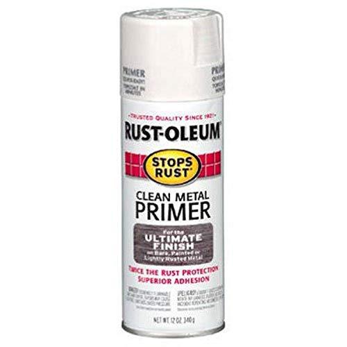 Rust-Oleum 7780830 Spray Paint, 12-Ounce, Flat White Clean Metal Primer, 12 Ounce