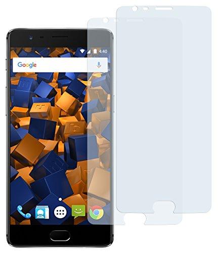 mumbi Schutzfolie kompatibel mit OnePlus 3 Folie, OnePlus 3t Folie klar, Bildschirmschutzfolie (2X)