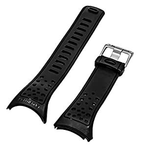 TIMEX Expedition Black Resin Watch Strap | Band for Adventure Tech Altimeter Barometer T41501 T41531 T41521