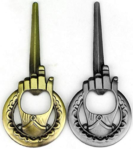 Hand of The King Bottle Opener 2-Pack - Game of Thrones Style - Bronze and Silver - Perfect Barware Man Cave Gift - Unique GOT Custom Cap Lifter Collectible Accessories