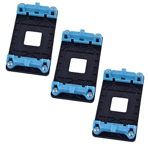 Plástico AM2 AM3 AM3 AM3 FM1 Socket AMD CPU Fan Soporte Base 3 Piezas Azul