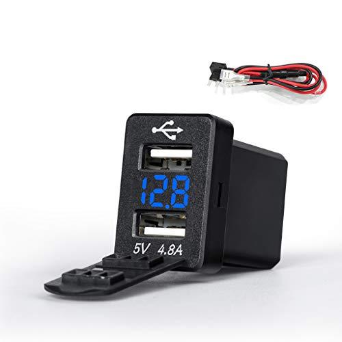 JENOR 12V Adaptador De Corriente Dual USB Voltímetro Del Cargador De Coche...