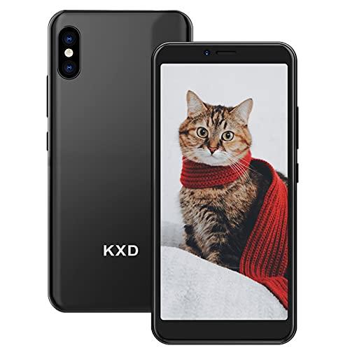 KXD 6A Smartphone Offerta del Giorno Cellulari Offerte 5.5 Pollici 8GB ROM 64GB Espandibili 2500mAh 3G Dual SIM Cellulari Offerte Android 5MP Camera Face ID Economici Telefoni Mobile, Nero