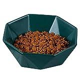 HUGEE Cuenco de Alimentación - Cuenco Inclinado de Cerámica para Perros para Gatos,Protege la Columna Vertebral del Gato,Evita el Reflujo,Cuencos para Perros Pequeños y Gatos (Verde)