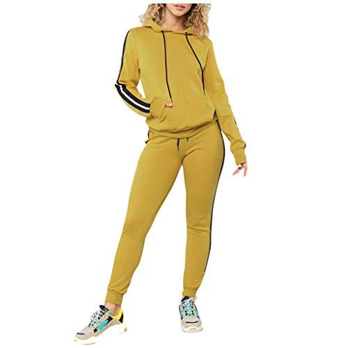 SETSAIL Warmer Anzug Europäische und amerikanische Fleece Damen Mode lässig Sportanzug zweiteilig Herbst und Winter Sport und Freizeit Anzug