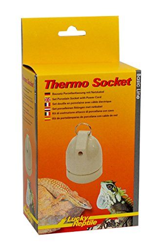 Lucky Reptile HTS-3 Thermo Socket, Porzellanfassung zum Hängen, kompletter Bausatz mit Netzkabel