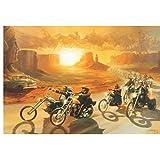 ARTMERLOD Leinwand Poster Easy Rider Filmplakate und Drucke