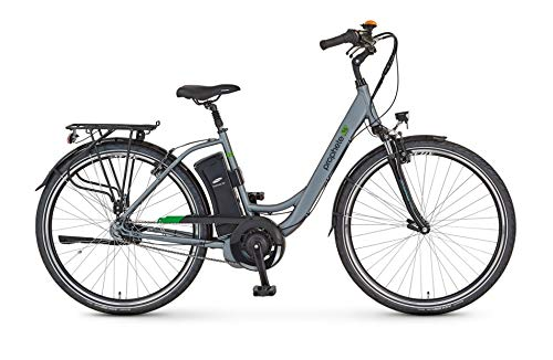 "Prophete Damen GENIESSER e9.6 City E-Bike 26\"" Elektrofahrrad, Brilliant Silber matt, RH 46 cm"