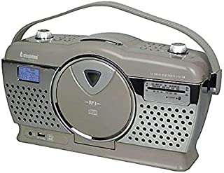 Steepletone Stirling Retro Style Portable Music System with 3 Band FM/MW/LW Radio/CD/MP3 Player - Mocha