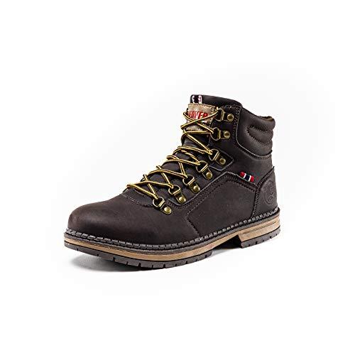 Denver Footwear, Botas de Montaña Cómodas con Suela de Alta Tracción para Hombre, Marrón, 41 EU