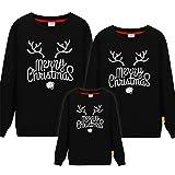 Miminuo Weihnachtpullover,Passende Familie Kleidung Baby Strampler Neujahr Weihnachten Winter Pullover Vater Mutter Kind Polar Fleece Männer Frauen Warmes Hemd-L_1ps Mann XXXL