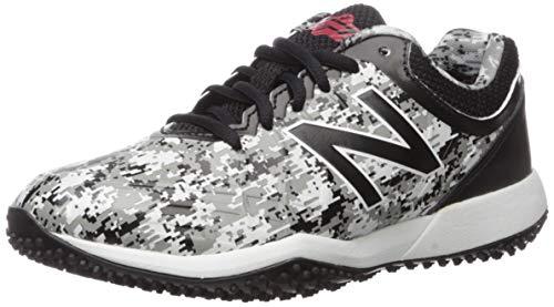 New Balance Kid's 4040 V5 Turf Baseball Shoe, Pedroia Camo Black, 5 M US Big Kid