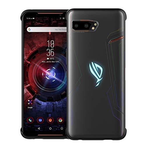 DDJ ASUS ROG Phone II hülle, Dünn Bereift Soft TPU Handyhülle Cover Anti-Kratzer Schutzhülle Leichter Tasche für ASUS ROG Phone II ZS660KL 2019 (Bereift)