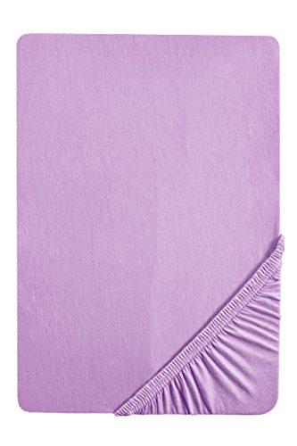 biberna 0077155 Drap housse en jersey, alto, 1x 90x190 cm > 100x200 cm