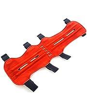 Protector de brazo para tiro con arco, piel de ante de calidad, suave