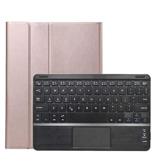 RZL Pad y Tab Fundas para iPad Air 4 10.9 2020, Bluetooth inalámbrico Teclado Desmontable FOLIOT Smart Tablet Funda Protectora TPU Funda para iPad Air 4 10.9 2020 (Color : Rose Gold)