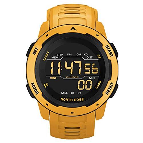 WRJY Reloj Multifuncional para Exteriores Reloj de Pulsera Digital Deportivo Inteligente 50M Impermeable Calorías con retroiluminación Podómetro Relojes Militares para Hombres Reloj de