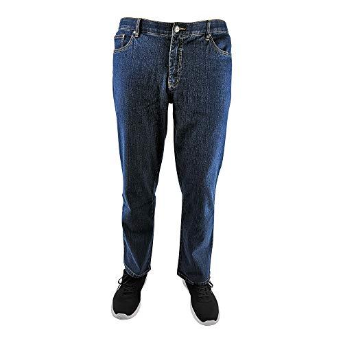 MARINA DEL REY Herren 5-Pocket Jeans Regular FIT Stretch in Übergröße, Bluestone, 66