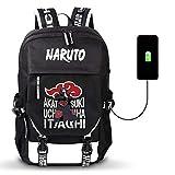 Leegt Mochila De Dibujos Animados De Anime Naruto USB Cosplay Mujeres Hombres Bolsa De Viaje Informal Mochilas Escolares