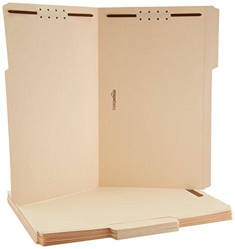 Amazon Basics Manila File Folders with Fasteners - Legal Size, 50-Pack