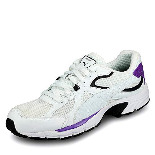 Puma 370287 Herren Axis Plus 90s Sneaker aus Mesh mit Leder-Overlays Soft-Foam, Groesse 39, weiß