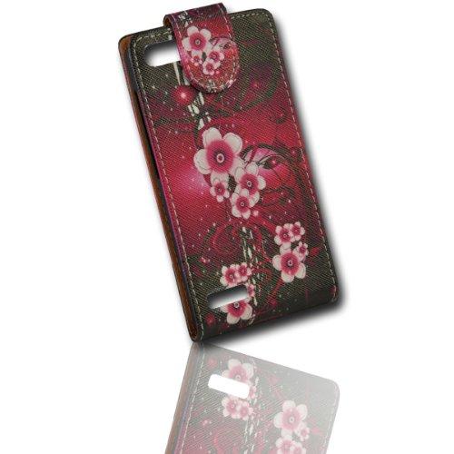 wicostar Handy Tasche Flip Style - Design No.1 - Cover Hülle Hülle Etui kompatibel mit Huawei Ascend G6