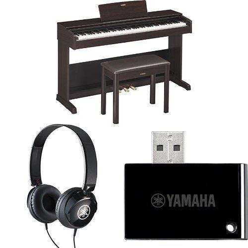 Yamaha YDP103R Arius Series Digital Console Piano, Rosewood, with Yamaha Bench, Headphones, and MIDI Adapter