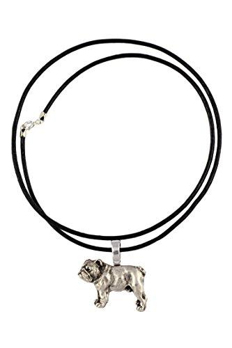 Englische Bulldogge, Hundehalskette, Limitierte Auflage, außergewöhnliches Geschenk, ArtDog