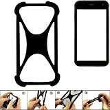 K-S-Trade® Handyhülle Für Cyrus CS 22 Schutz Hülle Silikon Bumper Cover Case Silikoncase TPU Softcase Schutzhülle Smartphone Stoßschutz, Schwarz (1x),