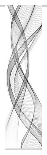 Home Fashion FERROL Schiebevorhang Digitaldruck, Stoff, grau, 245 x 60 cm
