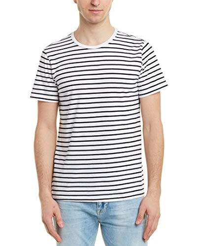 Save Khaki Mens United Striped T-Shirt, XL, White