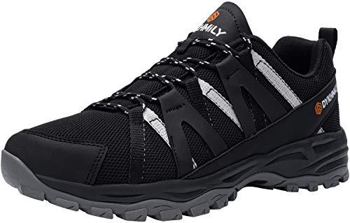 Zapatos de Seguridad Hombre Zapatillas Zapatos de Hombre Trabajo con Punta de Acero Calzado de Seguridad Zapatos de Industria y Construccion(Negro,45)