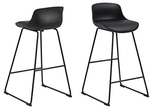 AC Design Furniture Tille Sedia da Bar, L: 49 x W: 43 x H: 94 cm, 2 Pezzi