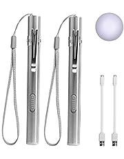 LEAGY Lumières de stylo pour les infirmières Lampe de poche rechargeable par USB Lampes de poche 2 lampes blanches pour étudiants en médecine