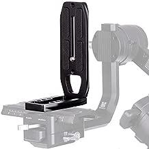 Soporte de cámara L para tomas verticales Arca Swiss Quick Release L Placa de montaje en trípode Compatible con cámara ZHIYUN Crane 2, DJI Ronin S Estabilizador