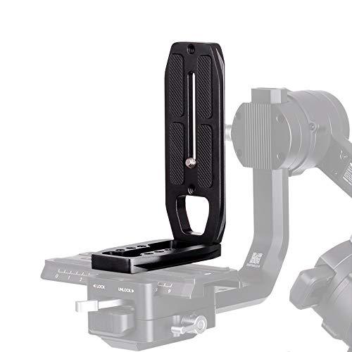 Soporte de cámara L para tomas verticales Arca Swiss Quick Release L Placa de montaje en trípode Compatible con cámara ZHIYUN Crane 2, DJI Ronin S / Ronin SC Estabilizador