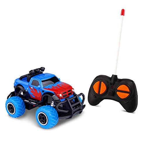 Toddlers Toys for 4-5 Year Old Boys RC Car Remote Control Trucks for 3-4 Year Old Kids , Birthday Gifts Preschool Toys Cars RWD 1/43 Scale (Blue RAM)