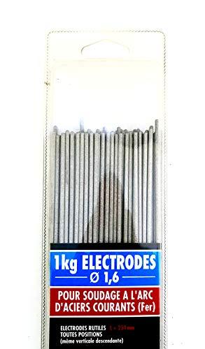 CEVAL France - Electrodos rutiles (1 kg, diámetro 1,6 mm)