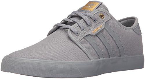 adidas Men's Seeley Fashion Sneaker, Solid Grey/Solid Grey/Solid Grey, 8.5 M US