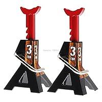 3ton / 6ton for. RC.車のメタルジャックは1/10 1:10のための修理ツール RC.カークローラー車の登山モデル 部品アクセサリー玩具 ぴったり ( Color : 2pcs 3Ton Black )