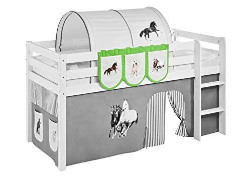 Lilokids Hängetaschen Pferde Grün Beige - für Hochbett, Spielbett und Etagenbett