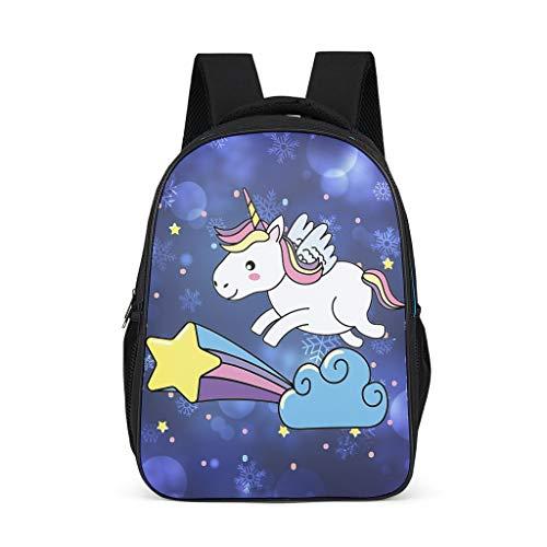 TengmiuXin Cute Unicorn College Book Bag for Teenagers Kids Fashion Leisure Laptop Shoulder Backpack Hiking Daypacks Grey Grey One Size