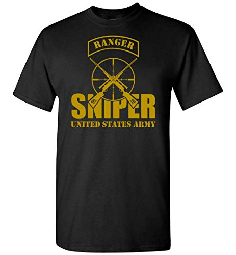 Pink Apricot Army Ranger Sniper US Army - Camiseta para hombre y mujer, camiseta negra, XXL