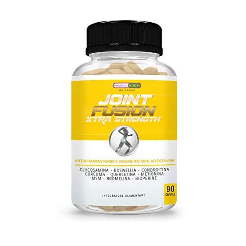 Potente Curcuma + Condroitina + Glucosamina + Bioperina Pura | Elimina il dolore in muscoli, articolazioni e ossa | Antinfiammatorio naturale con azione analgesica e rigenerativa | 90 capsule